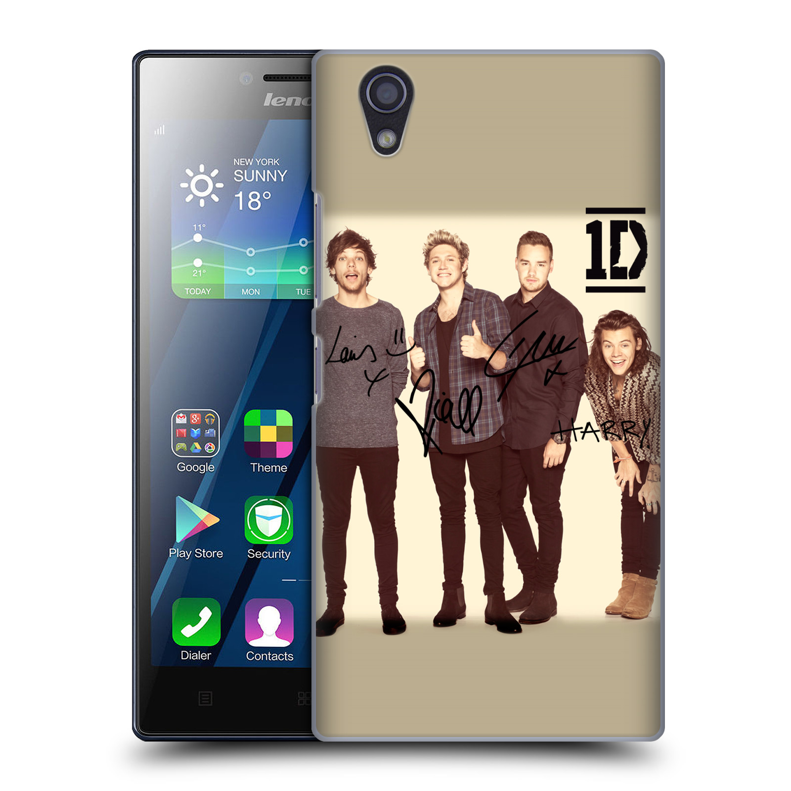 OFFICIAL ONE DIRECTION GROUP PHOTOGRAPHS AUTOGRAPHED HARD BACK CASE FOR LENOVO PHONES