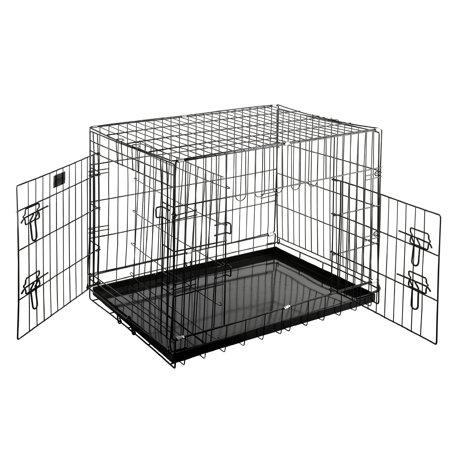 Pet Trex Premium Quality Folding Heavy Duty Pet Crate Kennel Wire Cage for Dogs Cats or
