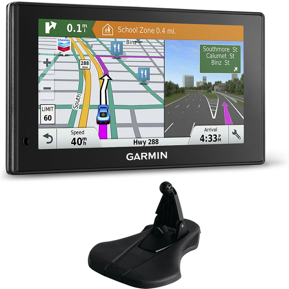 Garmin 010-01540-01 DriveSmart 60LMT GPS Navigator Friction Mount Bundle includes Garmin DriveSmart 60LMT and Portable Friction Mount (Flexible Style)
