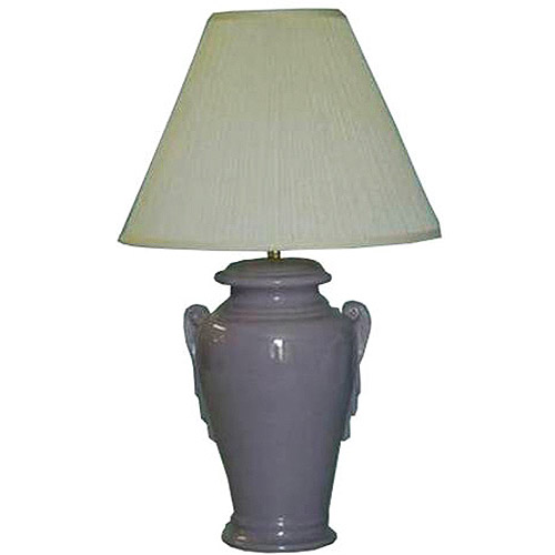 """Rjf 28"""" Ceramic Table Lamp With A Lilac"""