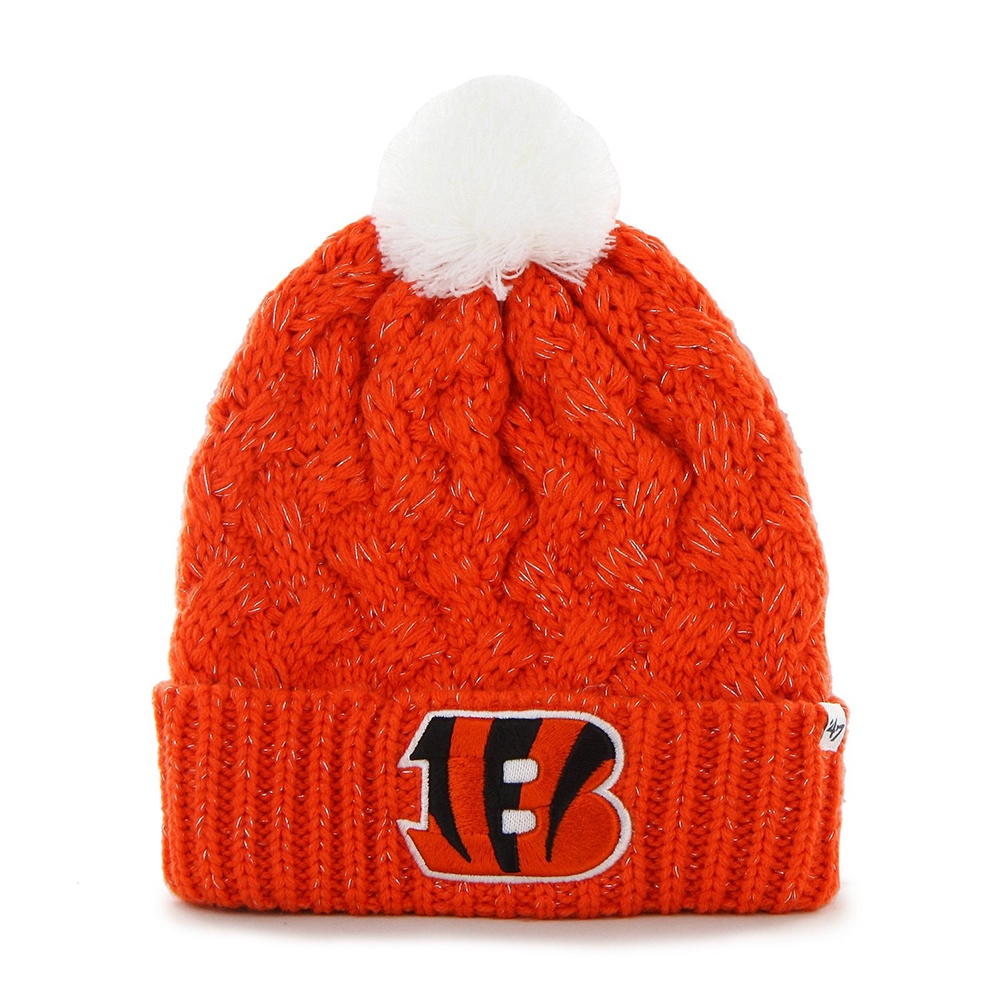 Cincinnati Bengals 47 Brand Womens NFL Fiona Cuff Knit Beanie by 47 Brand