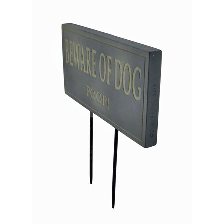 Funny Beware of Dog Poop Lawn/Garden Stake Sign Post Slate - image 2 of 3