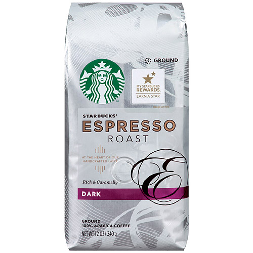Starbucks Espresso Roast Ground Coffee, 12 oz