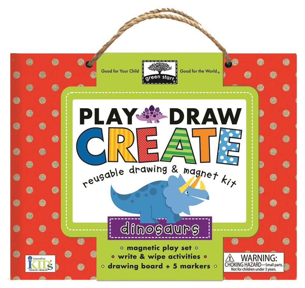 Green Start Play, Draw, Create Dinosaurs: Reuseable Drawing & Magnet Kit (Other) by Innovative Kids