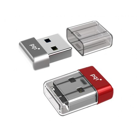 64GB PQI U603V USB3.0 Ultra-small Flash Drive Red