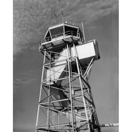 Low angle view of an air traffic control tower Newark Liberty International Airport New Jersey USA Canvas Art - (24 x 36)