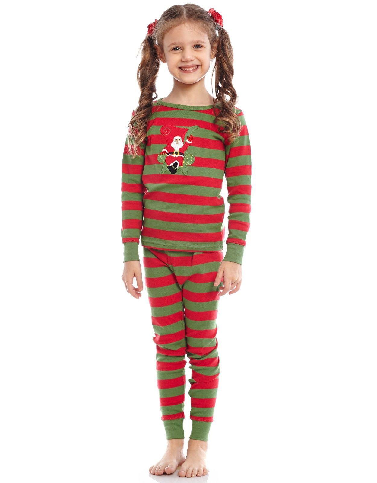 Leveret Kids Christmas Pajamas Boys Girls /& Toddler Pajamas Red White Green 2 Piece Pjs Set 100/% Cotton 12 Months-14 Years