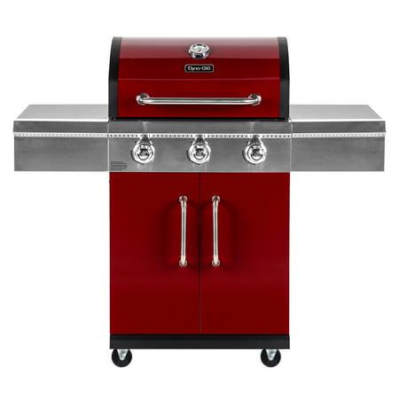 Dyna Glo 3 Burner Red Propane Gas Grill