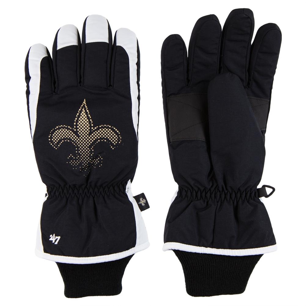 New Orleans Saints - Logo Glade Black Ski Gloves