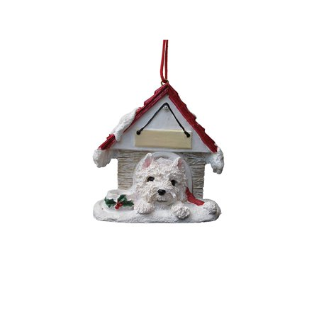 Westie Doghouse Ornament Hand Painted and Easily Personalized ()