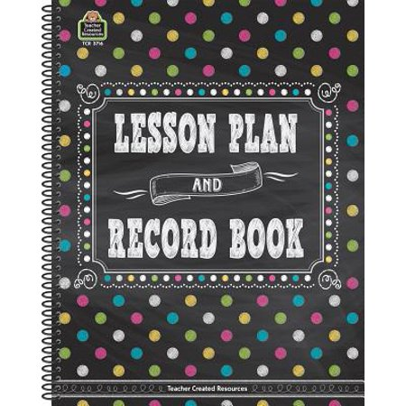 Chalkboard Brights Lesson Plan and Record Book for $<!---->