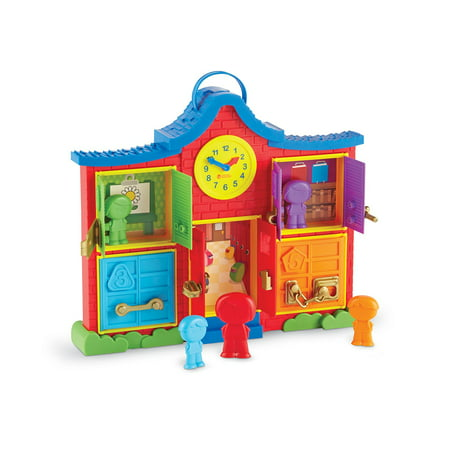 Learning Resources Latch & Learn School House, Fine Motor Toy, 6 Pieces](School Toys)