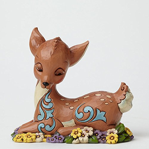 Jim Shore Heartwood Creek Flower Bed Fawn Baby Deer Pint Size Figurine 4051429