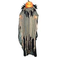 "72"" Talking Pumpkin Man Animated Lifesize Haunted House Halloween Decor Prop"