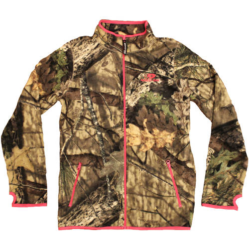 Mossy Oak Women's Fleece Camo Full Zip Jacket, MO Snow by Generic