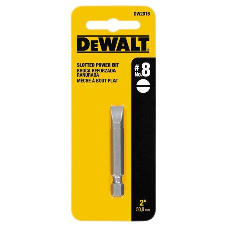 DeWalt  Slotted  #8   x 2 in. L Power Bit  S2 Tool Steel  1 pc.
