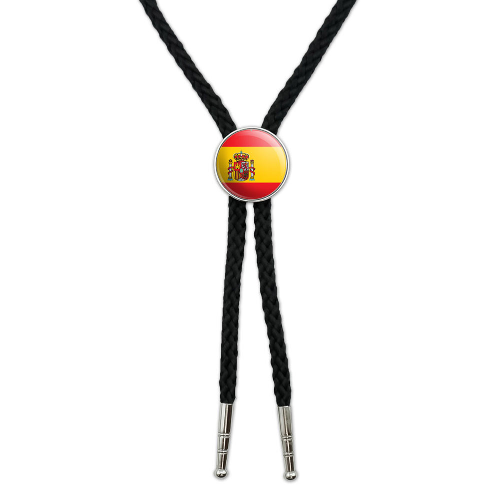Spain Spanish Flag Southwestern Bolo Tie by Graphics and More