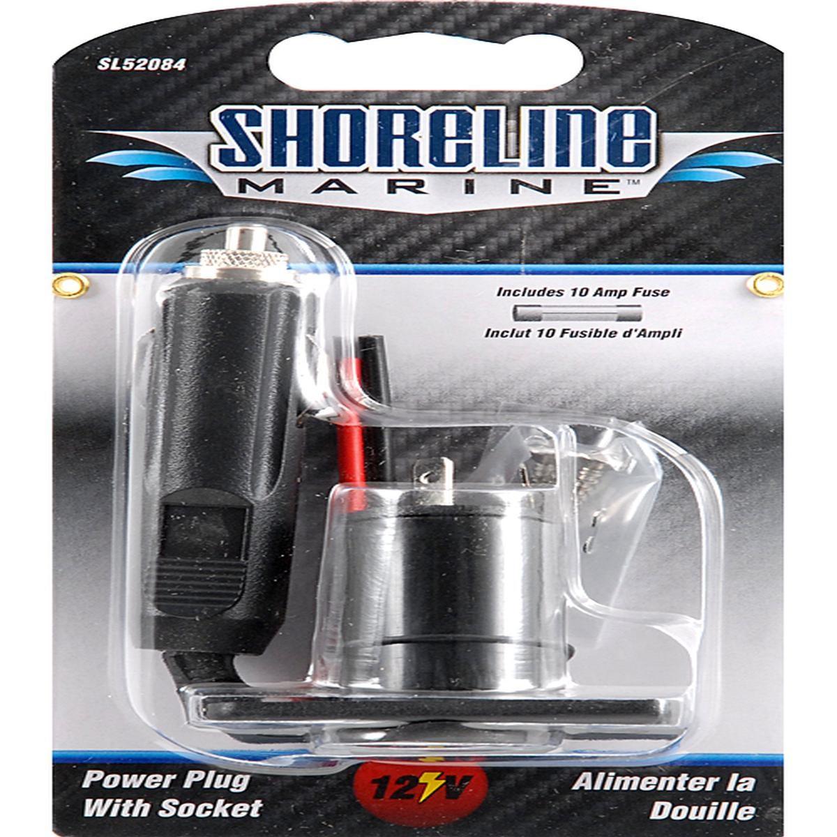 Shoreline Marine 12 V Power Plug with Socket