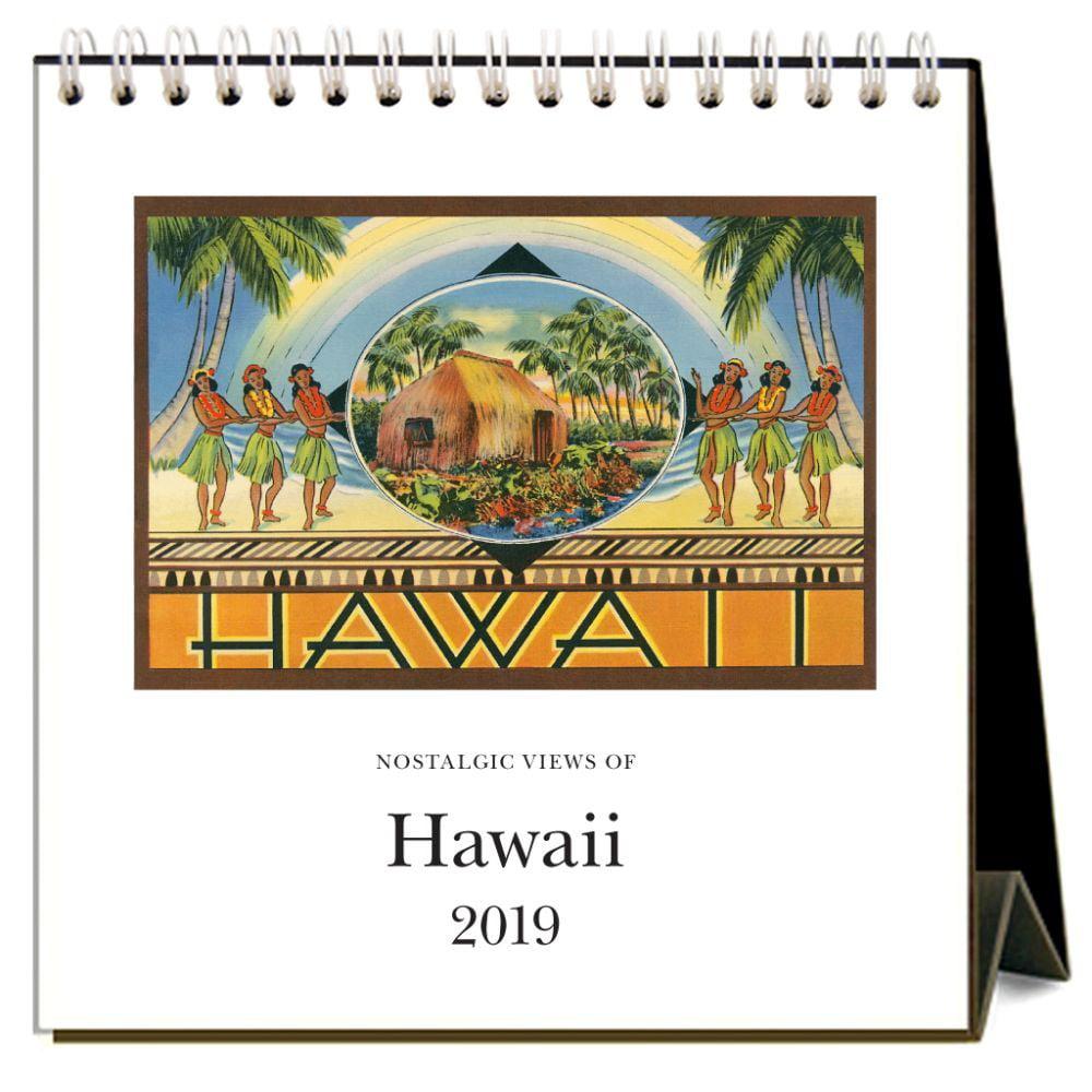 2019 Hawaii Nostalgic 2019 Easel Desk Calendar, Hawaii by Found IMage Press by Found Image Press