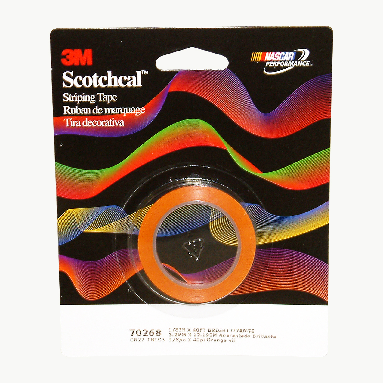 Image of 3M Scotch Scotchcal Striping Tape: 1/8 in. x 40 ft. (Bright Orange)