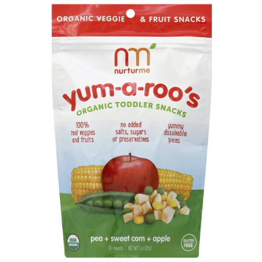 Nurturme Yum-a-Roo's Organic Toddler Snacks, 1 oz, (Pack of 6)