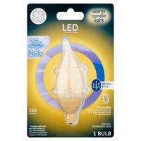GE LED 2.5W 150 Lumens Warm Candle Light CAC Bulb