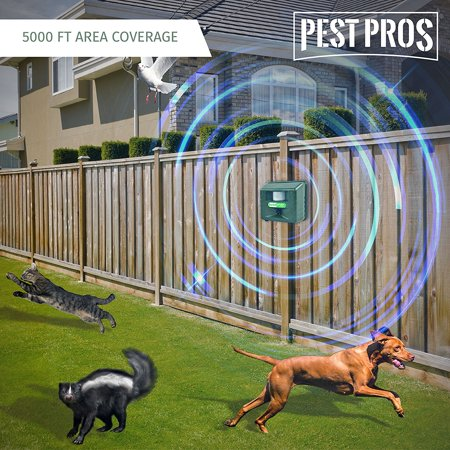 - Stop Barking Device for Dogs include Ultrasonic Animal Repeller, Keep dog be quiet & less scared. Motion Sensor detect intruders and alarm from acoustics