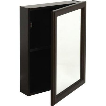 16w X 20 H Surface Mount Espresso Wood Medicine Cabinet