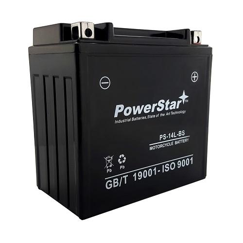 YTX14L-BS PowerStar Battery for Harley-Davidson 1200CC XL, XLH (Sportster) 2006