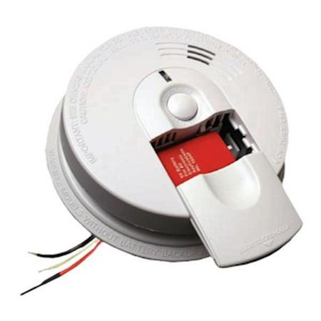 Kidde 07583 - 120 volt Hush Smoke Alarm with Slide Load Front Battery Backup (9V Alkaline Battery Included) (21007583 i4618-A)