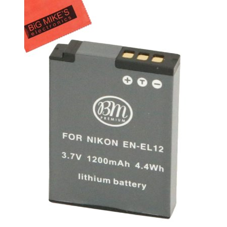 (BM Premium EN-EL12 Battery for Nikon KeyMission 170, KeyMission 360, Coolpix A900, AW100, AW110, AW120, AW130, S6300, S9050, S9200, S9300, S9400, S9500, S9700, S9900, P300, P310, P330, P340 Camera)