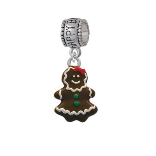 Enamel Gingerbread Girl - Happy Birthday Charm Bead