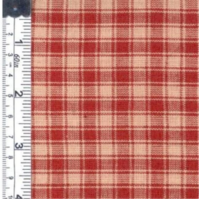 Textile Creations 140 Rustic Woven Fabric, Small Plaid Red, 15 yd.