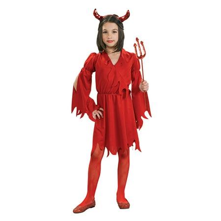 Child Devil Girl Costume Rubies - Leather Devil Costume