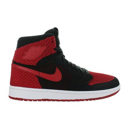 Mens Air Jordan 1 Retro Flyknit Banned Black Varsity Red White 919704-