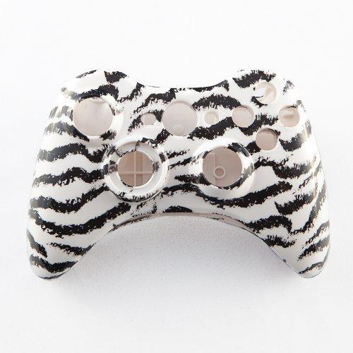 White Tiger Stripes Custom Controller Shell for Xbox 360