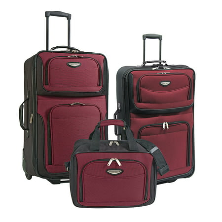 Traveler s Choice - Amsterdam 3-Piece Rolling Luggage Set - Walmart.com fc32fba928a8f
