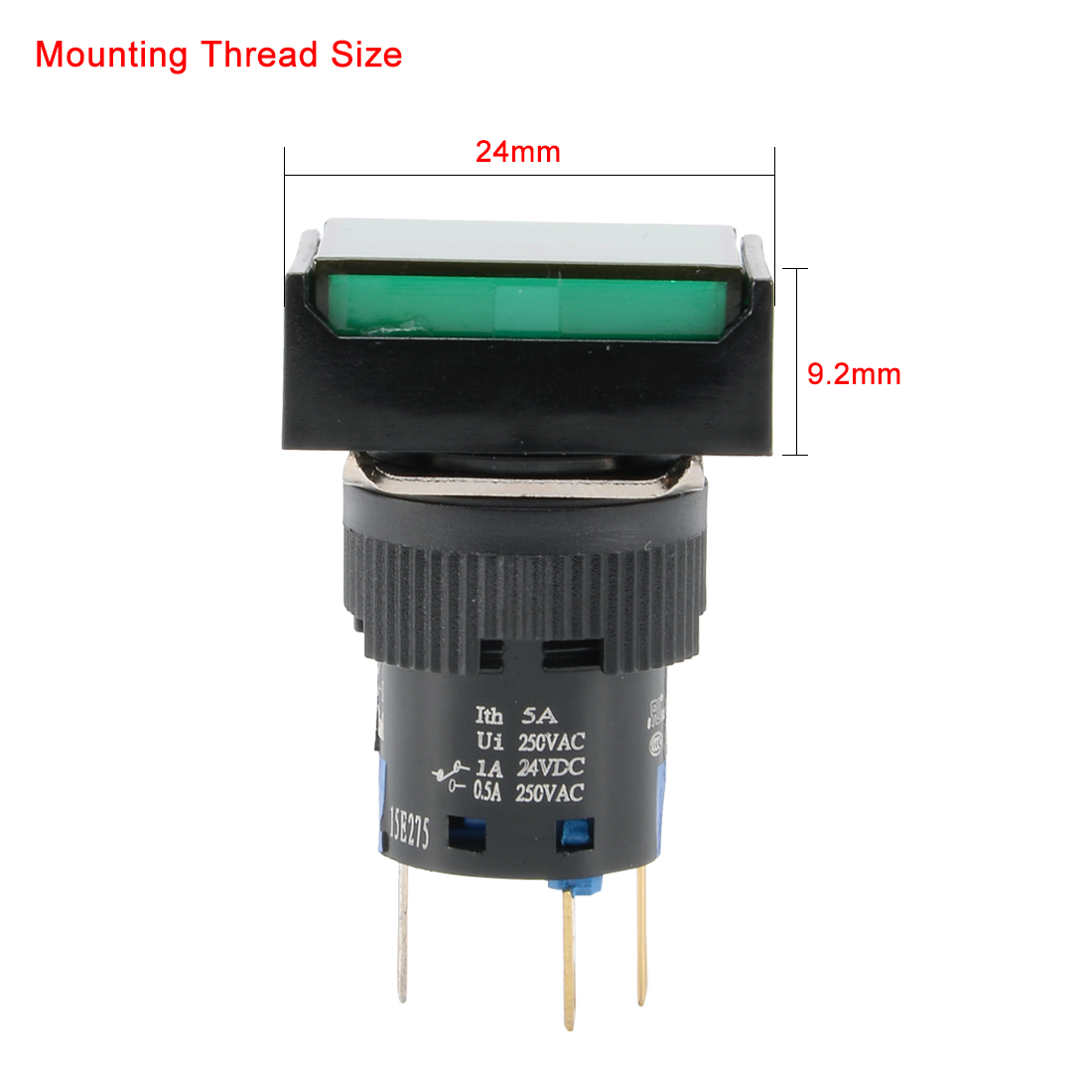 Ac 110 220v Light Spdt 1no 1nc 16mm Mounted Latching Push Button Switch Cool Electronics Circuits A Qty