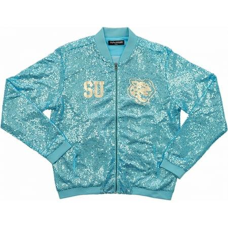 Big Boy Southern Jaguars Ladies Sequins Jacket [Sky Blue - M]
