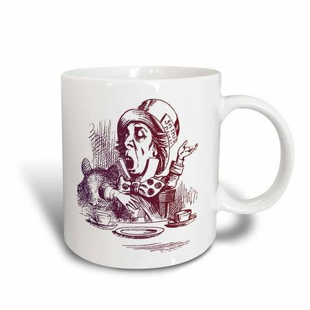 Vintage Tea Party (3dRose Mad Hatter Tea Party vintage Alice in Wonderland - Ceramic Mug,)
