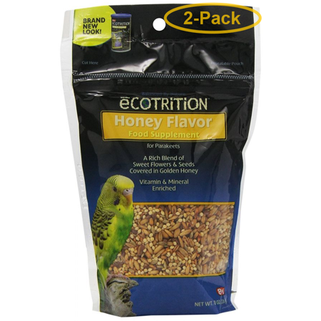 Ecotrition Honey Flavor Variety Blend for Parakeets 8 oz - Pack of