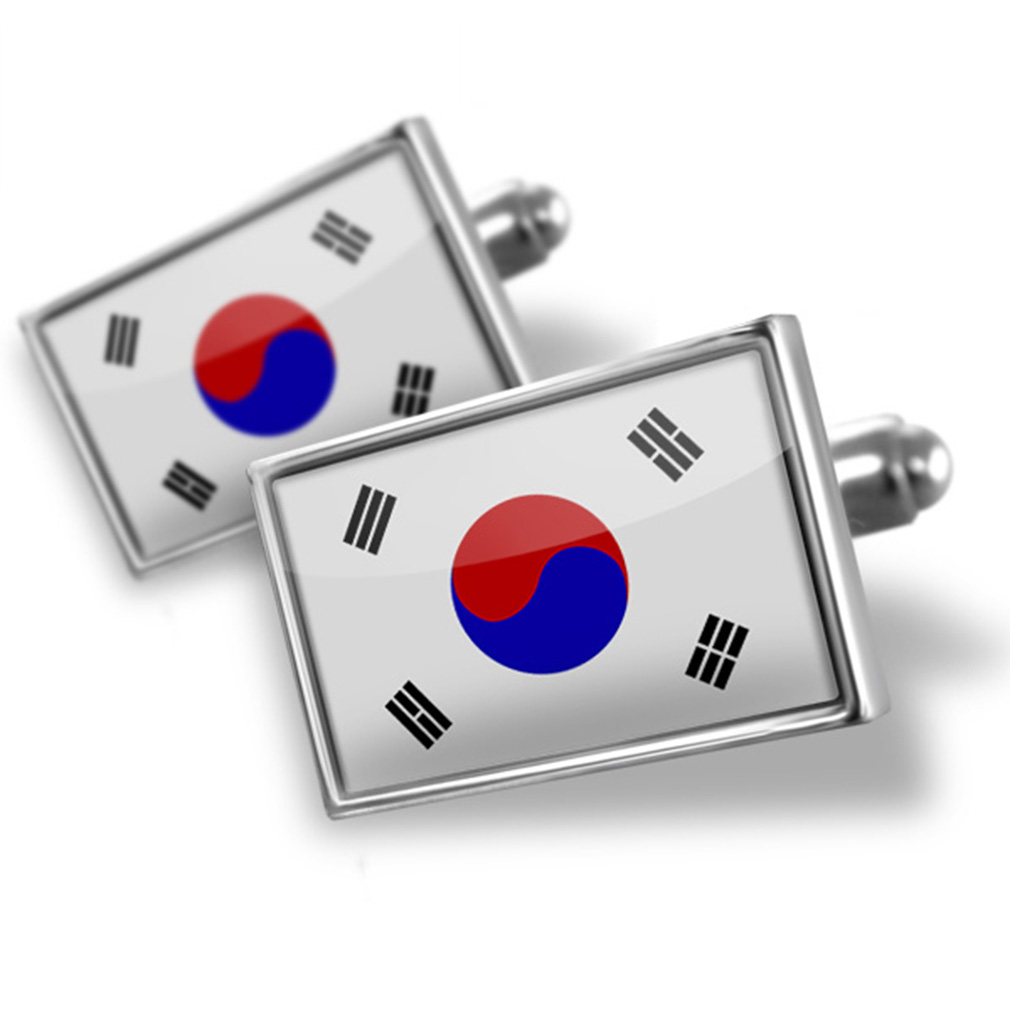 Cufflinks South Korea Flag NEONBLOND by NEONBLOND