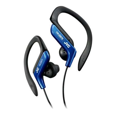 JVC HA-EB75 Earphone - Stereo - Blue - Mini-phone - Wired - Gold Plated - Over-the-ear - Binaural - Open - 3.94 ft Cable