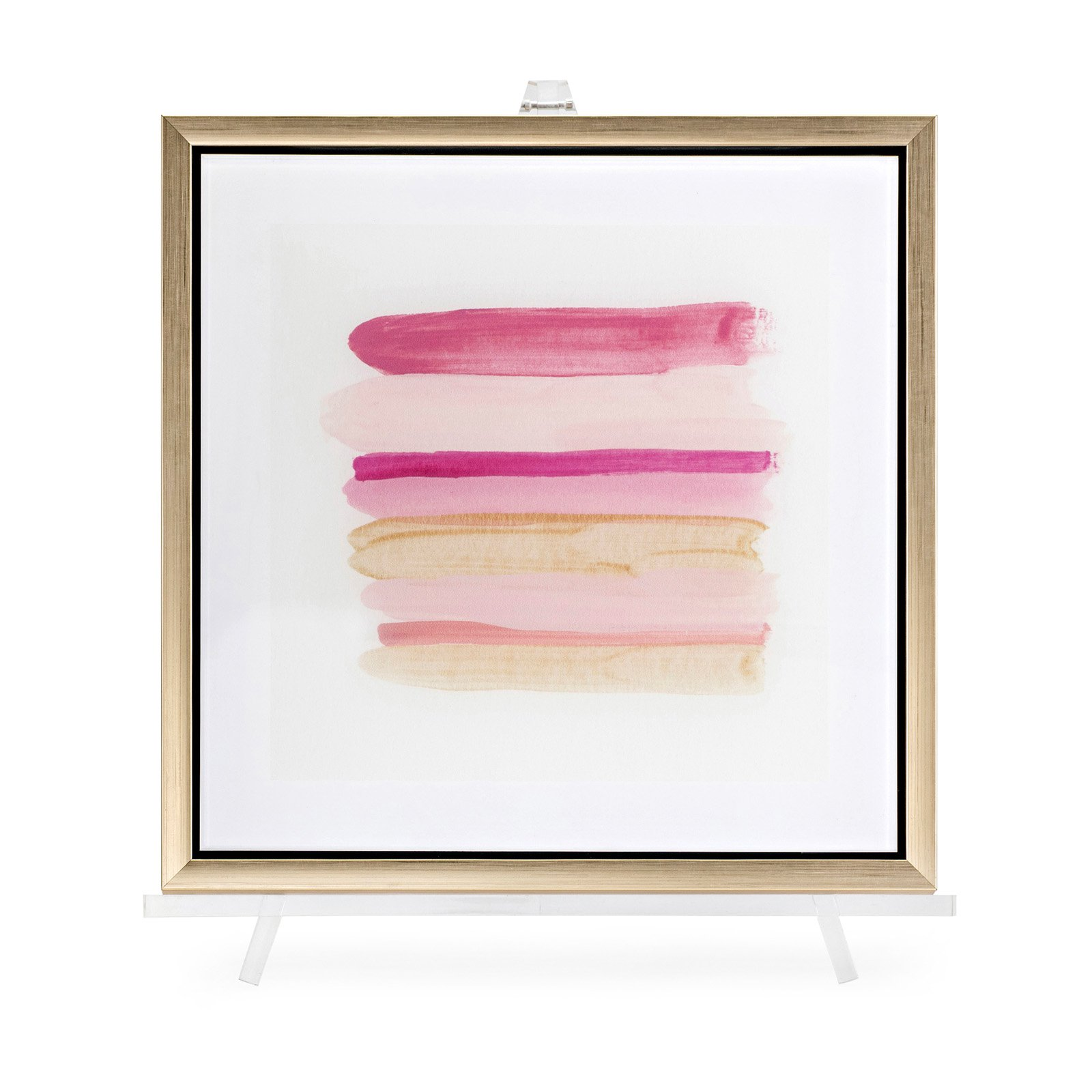 Trisha Yearwood Pink Line Acrylic Framed Wall Art with Easel