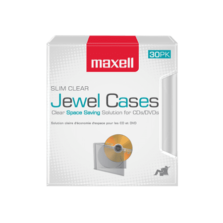 30-Pack Slim Line Jewel Cases, Clear (Jewel Cases)