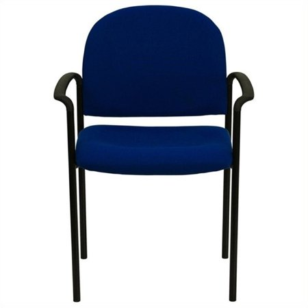 Scranton Co Side Office Stacking Chair In Navy Blue