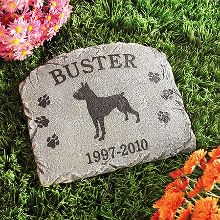 Personalized dog memorial stone - Personalized garden stepping stones ...