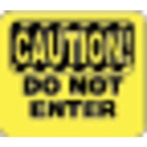 TENSABARRIER SG6-35-1114-250-H Acrylic Sign,Yellw,Caution Do Not Enter G2009905