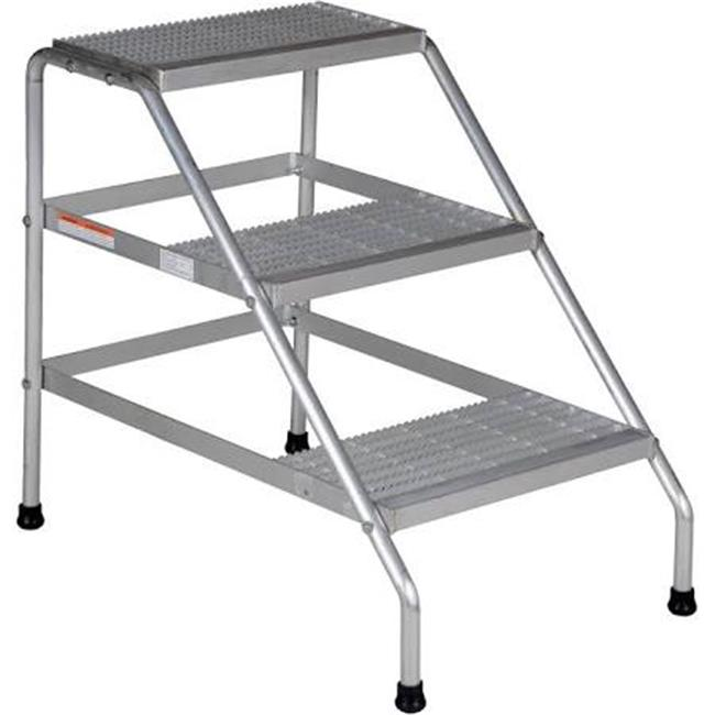 Vestil SSA-3-KD Aluminum Step Stand Knock Down 3-Step