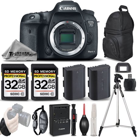 Canon EOS 7D Mark II DSLR Camera Body Only + EXT BATT + WRIST GRIP - 64GB Kit (Minolta Maxxum 7d)